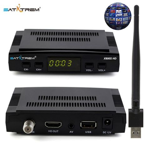 Satxtrem X800s Hd Receptor Satellite Usb Wifi Dvb S2 Receiver 1 Year Europe 8 Lines Cccam Optional Review Satellites Satellite Tv