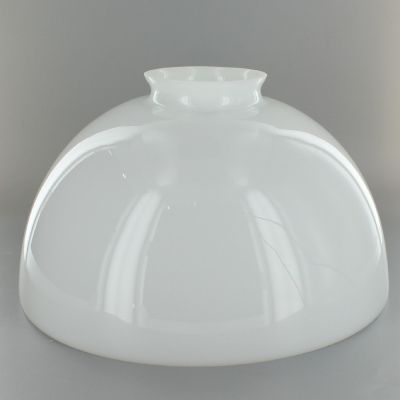10in Top Hand Blown Ies Opal Glass Shade With 3 1 4in Neck Usa Lamp Parts Glass Shades Glass Lamp Shade