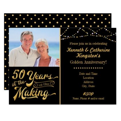 Golden Anniversary 50 Years In The Making Invitation