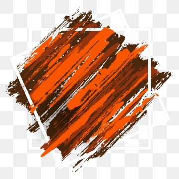 Orange Watercolor Brush Background Design Brush Effect Watercolor