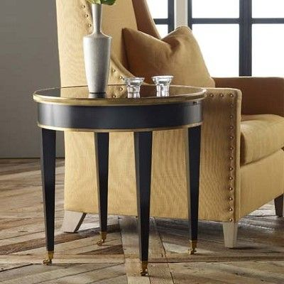 Modern History Tuxedo End Table End Tables Table Pink Home Decor