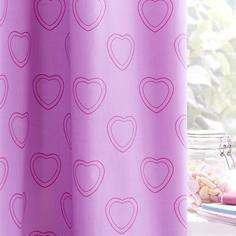 Purple Sweetie Loveheart Blackout Eyelet Curtains