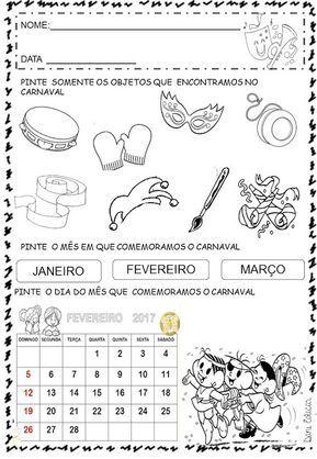 Atividades E Desenhos Para Colorir Carnaval So Escola Atividades Sobre O Carnaval Atividades De Carnaval E Atividades
