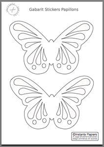 Stickers Papillons - gabarit de découpe à imprimer