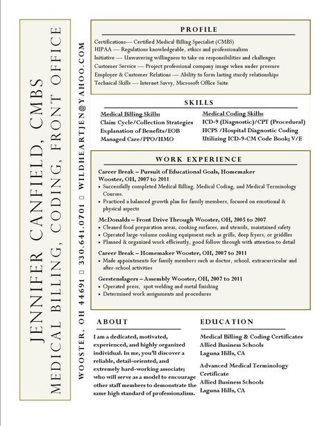 Get ready for your medical-billing job interview by preparing - mcdonalds resume
