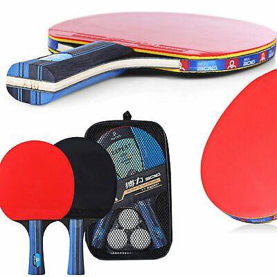 Professional 2pcs Set Table Tennis Ping Pong Racket Paddle Bat 3 Balls Bag Us Table Tennis Table Tennis Racket Ping Pong Paddles