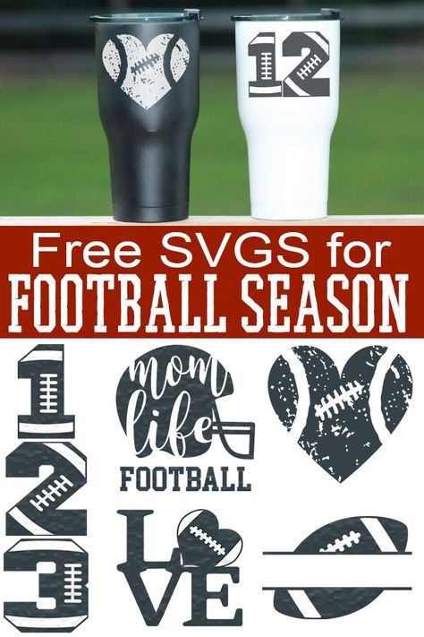 Free Football SVGs Football Season Never Looked So Good! is part of Cricut - Free Football SVGs and cut files for football season Any football fan would love to receive a gift with these Cricut Vinyl, Cricut Air, Cricut Fonts, Cricut Svg Files Free, Cricut Craft, Vinyl Decals, Silhouette Cameo Projects, Silhouette Design, Silhouette Cameo Shirt