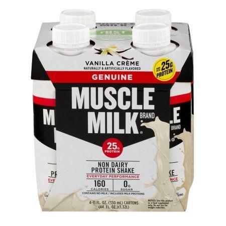 Muscle Milk Genuine Protein Shake 25g Protein Vanilla Creme 11 Fl Oz 4 Count Walmart Com Muscle Milk Protein Shakes Shakes