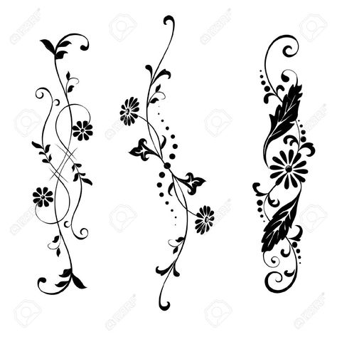 Vector Set Elements For Design Flowers And Ornaments Floral Royalty Free Cliparts, Vectors, And Stock Illustration. Pic 13030124.