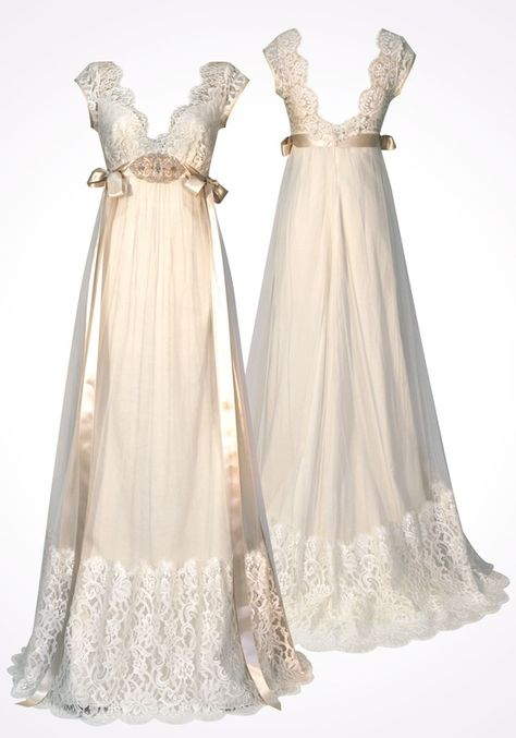 What lovely old fashioned yet modern gowns these are and Claire Pettibone - Couture Bridal & Wedding Dresses, has quite a selection to choose from so go have a look and see what you think. Vestidos Vintage, Vintage Dresses, Vintage Outfits, Claire Pettibone, 2015 Wedding Dresses, Wedding Gowns, Wedding Cakes, Beautiful Gowns, Beautiful Outfits
