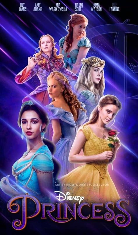 a beautiful cover for all of our favorite live action Disney princesses