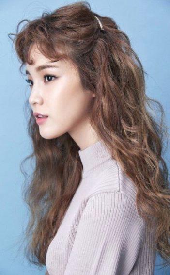 Trendy Hair Styles Korean Long Bangs 25 Ideas Asian Brown Hair Curly Hair Styles Hair Inspiration