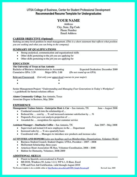 Best Current College Student Resume With No Experience College Resume Student Resume Template College Resume Template