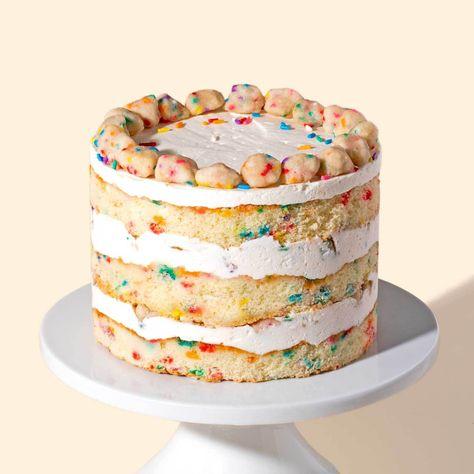 Peachy Gluten Free Birthday Cake In 2020 Savoury Cake Milk Bar Funny Birthday Cards Online Inifofree Goldxyz
