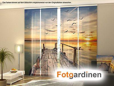 Fotogardinen Pier, Flächenvorhang, Schiebegardinen mit Motiv ...