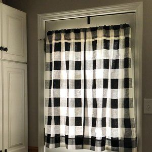 Gray Ticking Curtains Free Shipping Two Panels Nursery Etsy Plaid Curtains Curtains Panel Curtains