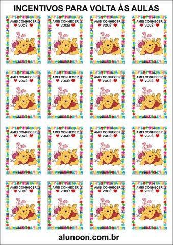 Incentivos De Volta As Aulas Do Ursinho Pooh Aluno On Com