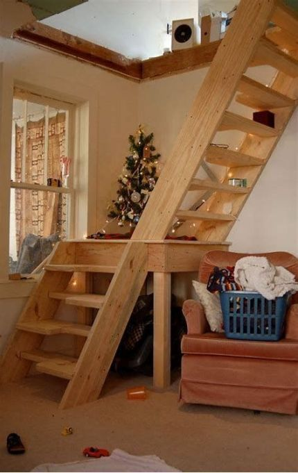 Loft Stairs Diy Attic Spaces 58 Super Ideas Loft Staircase Tiny House Stairs Loft Stairs