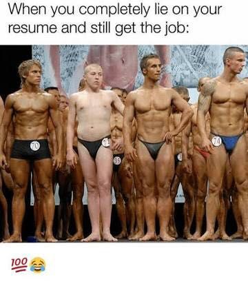Lie On Your Resume Funny Meme Funny Captions Funny Photos Funny