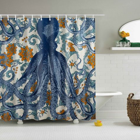 Thomas Paul Octopus Vineyard Shower Curtain Octopus Shower