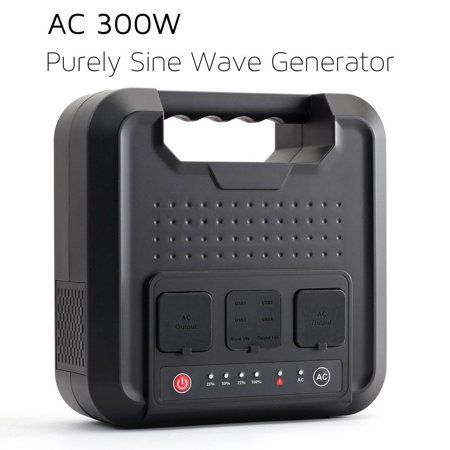 Portable Ac Power Bank 300watts 220wh Pure Sinewave Power Inverter Mini Generator Power Chrger External Battery Packs With 110v Ac Outlet 12v Dc Usb For Ca Power Inverters Powerbank Battery Generator