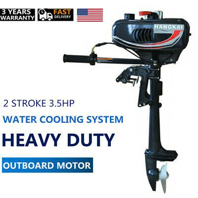 Boatsparts Hangkai 3 5hp 2 Stroke Outboard Motor Boat Engine Water Cooling Outboard Motors Outboard Boat Engine