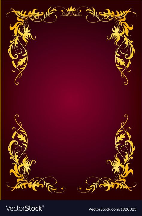 Elegant Template For Greeting Card Invitation Vector Image On
