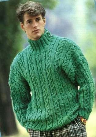 1b686184 Men's Hand Knit Turtleneck Sweater 113B | Mens Knit | 80s fashion ...