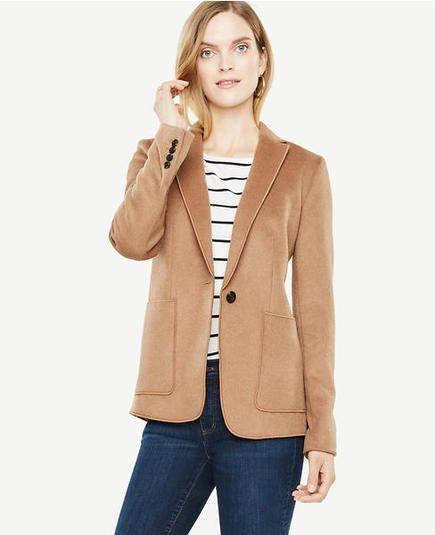 38d7edd53 Styling the Camel Wool Blazer   Ann Taylor x Street Style   Beige ...