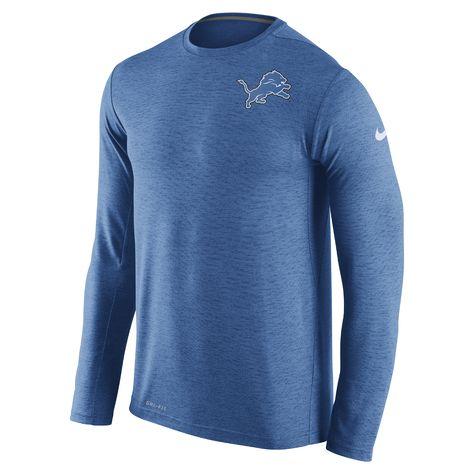 Nike Dri-FIT Touch (NFL Lions) Men s Training T-Shirt Size XL (Blue) -  Clearance Sale 89f205ff3
