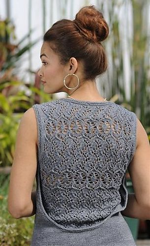Love the back detail. Interweave Knits, Summer 2012.