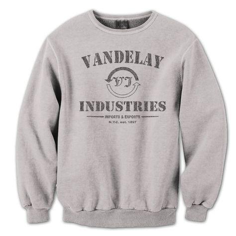 70ceafc5 VANDELAY INDUSTRIES - funny hip retro humor vintage cool seinfeld tv show  new tee shirt - Mens Gray Sweatshirt DT0006