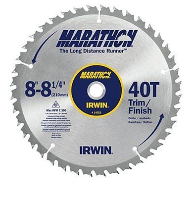 Saw Blades 122837 Irwin 14053 8 8 1 4 40t Marathon Saw Blade Buy It Now Only 19 79 On Ebay Table Saw Blades Best Table Saw Table Saw