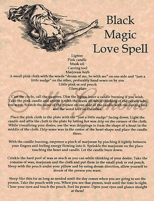 Black Magic Love Spell, Book of Shadows Pages, BOS, Wiccan
