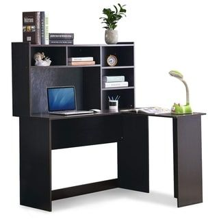 Mcombo L Shaped Desk Corner Desk Home Office Workstation Large