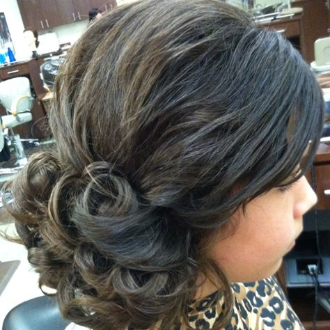 updo I did on a little girl for a wedding--1