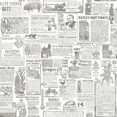 Brewster Underwood Brown Newspaper Brown Paper Strippable Roll Covers 56 4 Sq Ft 2904 13082 The Home Depot Newspaper Wallpaper Vintage Newspaper Novelty Wallpaper