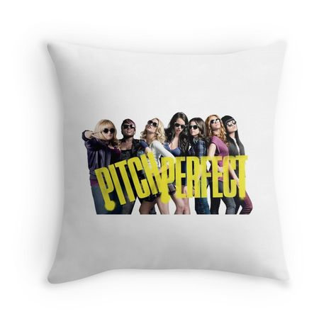 Pitch Perfect Throw Pillow By Agnesdraws Throw Pillows Pitch Perfect Pillows