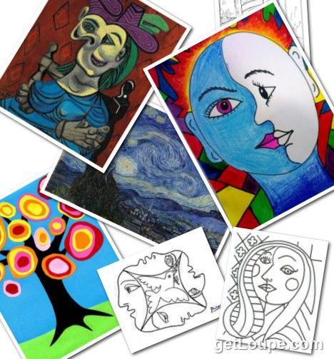 Okuloncesi Unlu Ressamlar Eserleri Ve Boyama Sayfalari Resim