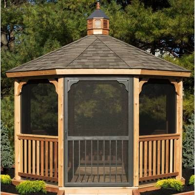 Screen Kit For 12 Ft Octagon Gazebo Outdoor Pergola Backyard Gazebo Patio Gazebo