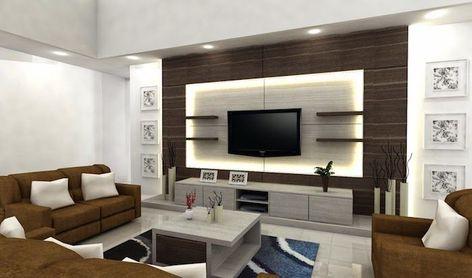 Wohnzimmerwand Ideen Fernsehwand Mit Led Beleuchtung Dekoration