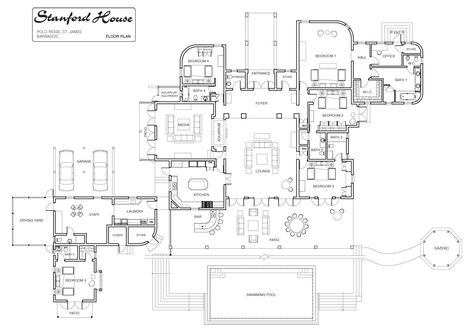 Luxury Floor Plans | Stanford House - Luxury Villa Rental in ... - luxury floor plans
