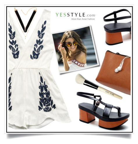 """WIN YESSTYLE.COM US$40 COUPON HERE: , JUMPSUIT or PLAYSUIT?"" by ewa-naukowicz-wojcik ❤ liked on Polyvore featuring Bobbi Brown Cosmetics"