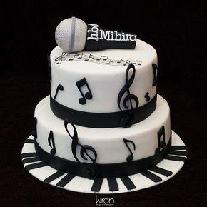 For That Talented Musician A Special Cake In The Theme Of Keys