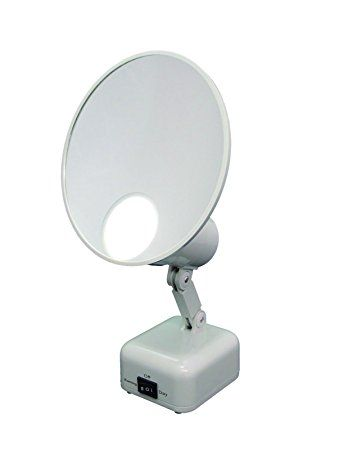 Floxite 15x Supervision Magnifying Mirror Light Dove White Review Magnifying Mirror Mirror With Lights Mirror