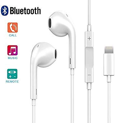 Amazon Com Lightning Earphones With Microphone Earbuds Stereo Headphones And Noise Isolating Headset Made For I Headphones Earbuds Stereo Headphones