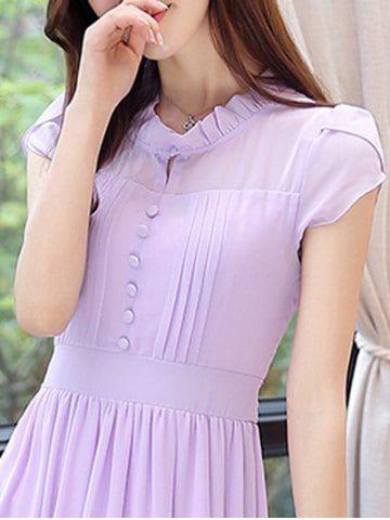 Ruffle Collar Chiffon Swing Dress Girls Ruffle Dress Cheap Chiffon Dresses Maternity Dress Pattern