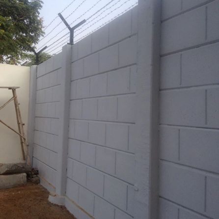 Precast Boundary Wall Lowest Cost Best Quality Pre Cast Pre Stressed Ready To Install Factory Made Rcc Bo In 2020 Boundary Walls House Gate Design Precast Concrete