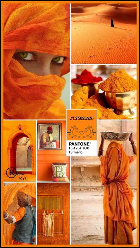 '' Turmeric- Pantone Spring/ Summer 2019 Color '' by Reyhan S.D.