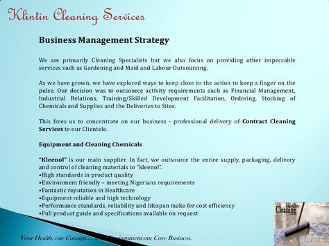 M Cleaning Services Presentation Sample Proposal Letter For ...